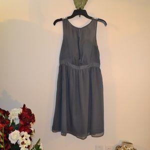 TEVOLIO SHEER GRAY DRESS
